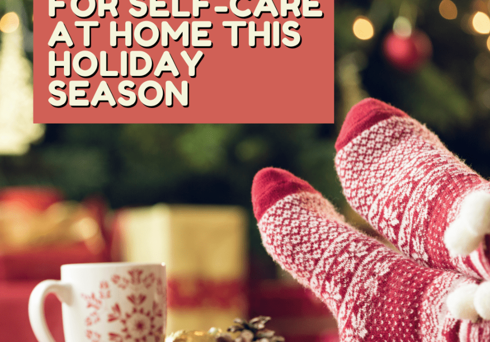 picture of holiday socks and coffee mug